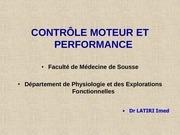 controle moteur et performance