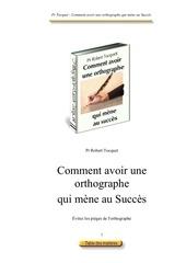 orthographe succes