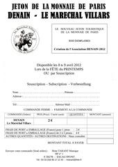 bon de commande medaille touristique denain 2012 1
