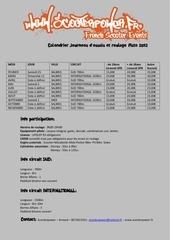 Fichier PDF calendrier infos roulage piste
