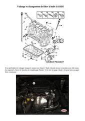 vidange moteur 1 6l hdi