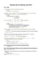 corrige exam juin 2011