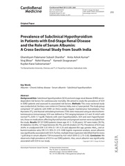 prevalence of subclinical hypothyroidism 1