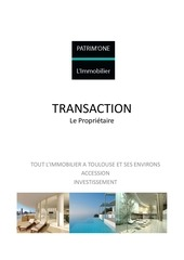 patrim one immobilier transaction