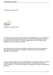 Fichier PDF suppression postes 2012
