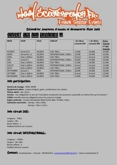 calendrier infos roulage piste 2012