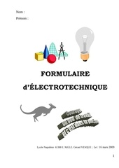 formulaire d electrotechnique 09 03 16