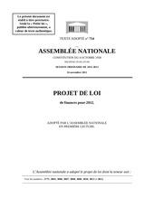 projet loi 2012