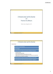 histoire des tarifs 13 09 2011