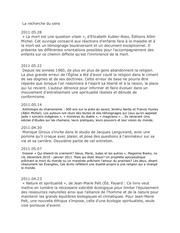 la recherche du sens par 4 chemins 29 aour 2009 au 28 mai 2011