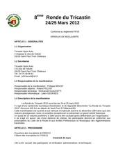 reglement ronde tricastin 2012