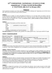 reglement expo et accept tautavel 2012 pdf