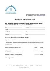 bulletin adh 2012