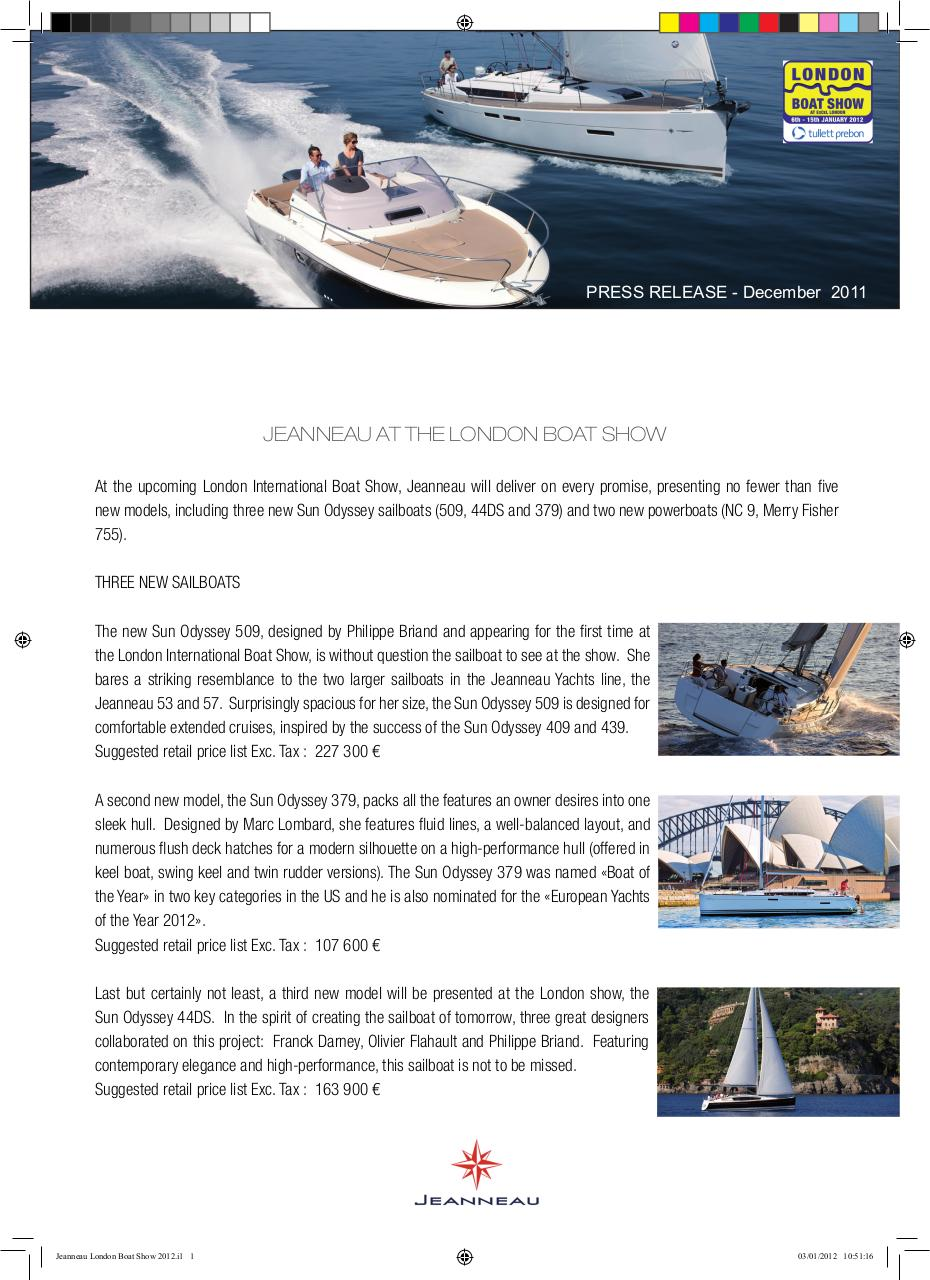 Aperçu du document Jeanneau London Boat Show 2012 HT.pdf - page 1/3