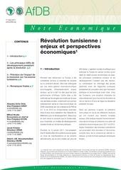 revolution tunisienne enjeux et perspectives