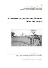 aduction d eau potable en milieu rurale