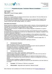 proposition de poste technicien telecom et installation bluwan janv2012