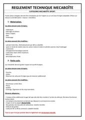 Fichier PDF reglement technique mecaboite sport