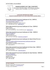 annuaire des mdph