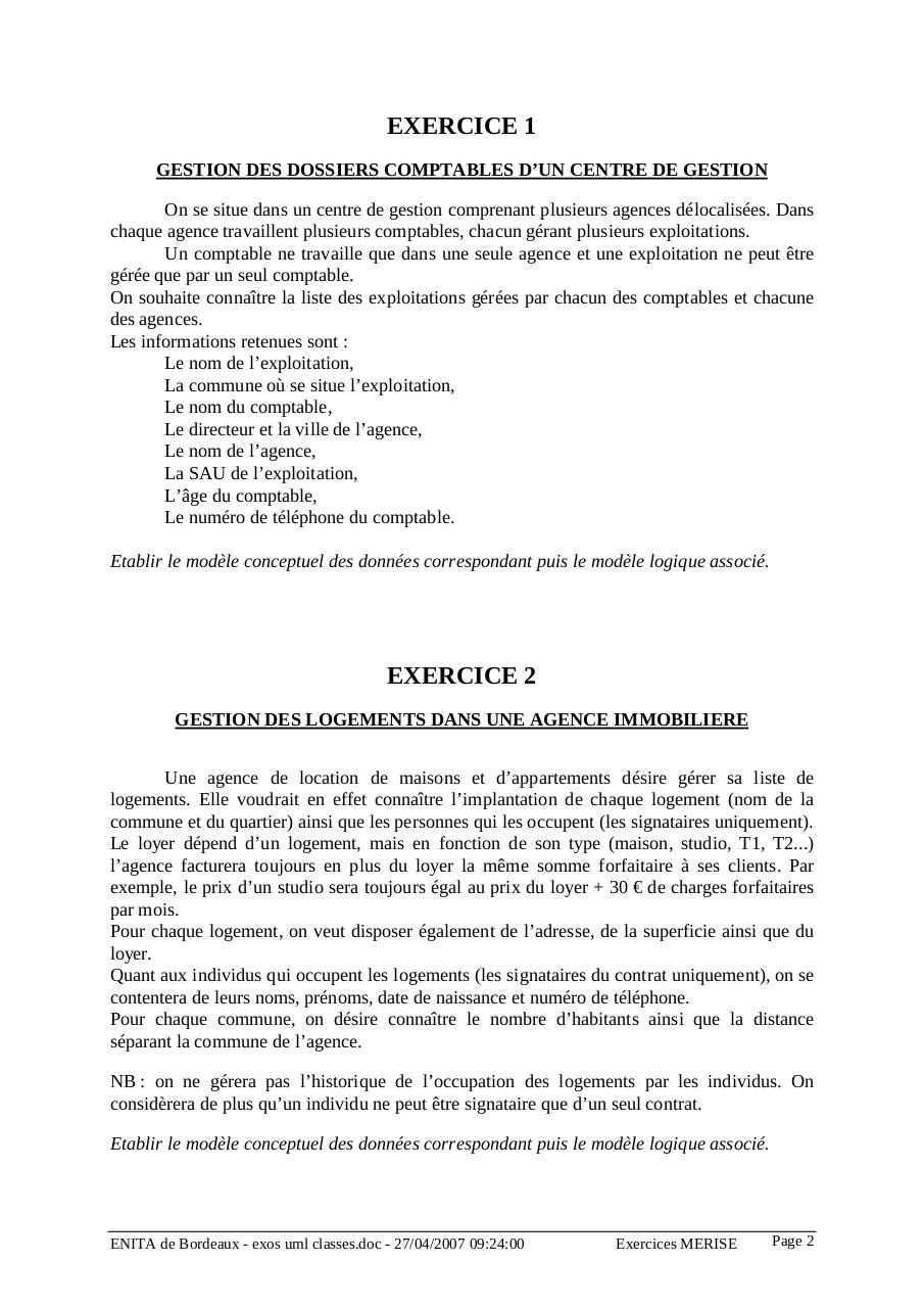 Corrigés des 9 exrcices de diagramme de classes.pdf - page 2/37