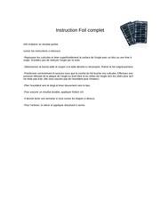 instruction foil complet format pdf 1