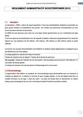 reglement administratif scooterpower 2012