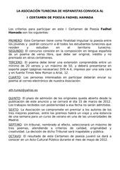 la asociaci n tunecina de hispanistas convoca el
