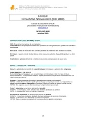 glossaire iso 9000