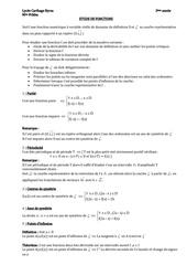 etude fct 3eme resume