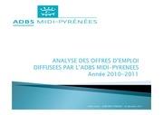 analyse veille emploi 2011