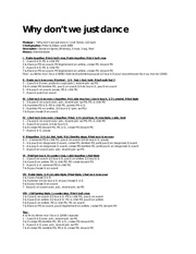 Fichier PDF why dont we just dance