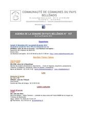 agenda de la semaine en pays bellemois n 107