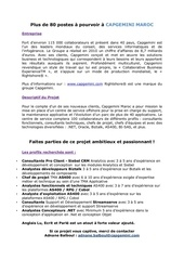 Fichier PDF offre d emploi capgemini maroc