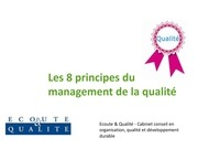 58617839 les 8 principes du management de la qualite