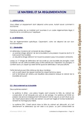 w13 materiel et reglementation