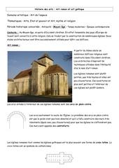 histoire des arts roman gothique