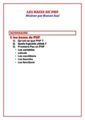 les bases de php