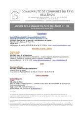 agenda de la semaine en pays bellemois n 108