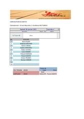 Fichier PDF convocation de match j13