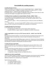 Fichier PDF liste coaching