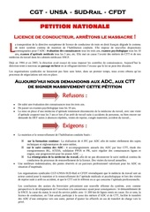 2012 01 13 petition unitaire licence de conducteur arretons le massacre