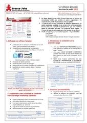 Fichier PDF franco jobs com services et tarifs 2012 recrutement