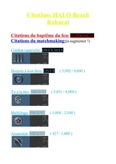 citation pour rakurai halo reach 7