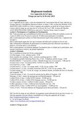 reglement tombola 16 fevrier 2012