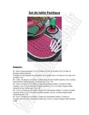 Fichier PDF set de table pasteque