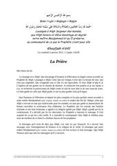 kh641 fr l importance de la priere