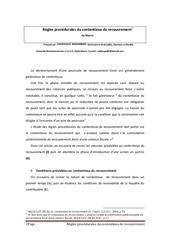 regles procedurales du contentieux de recouvrement