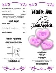 valentines menu 2011