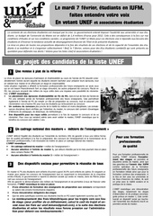 tract election iufm