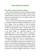 ts1 fin du cours sur la religion
